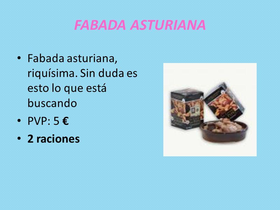 FABADA ASTURIANA Fabada asturiana, riquísima. Sin duda es esto lo que está buscando PVP: 5 2 raciones
