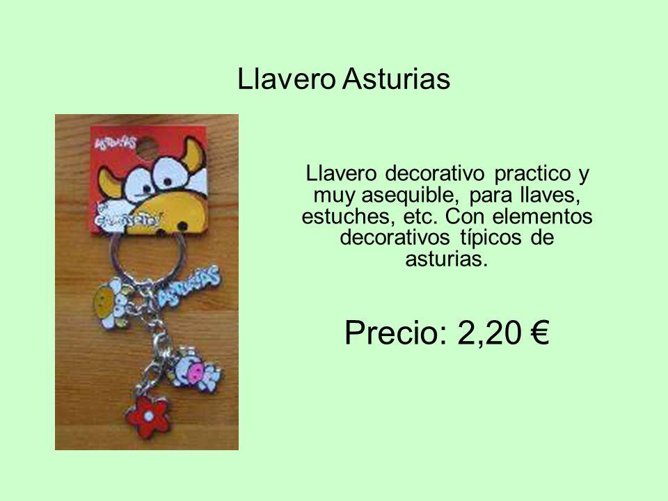 Llavero Asturias Llavero decorativo practico y muy asequible, para llaves, estuches, etc. Con elementos decorativos t í picos de asturias. Precio: 2,2