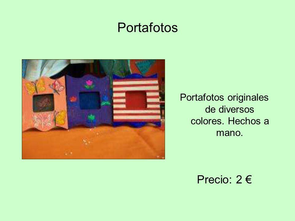 Portafotos Portafotos originales de diversos colores. Hechos a mano. Precio: 2