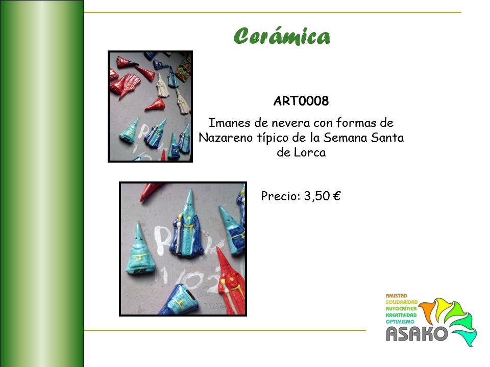 Cerámica ART0008 Imanes de nevera con formas de Nazareno típico de la Semana Santa de Lorca Precio: 3,50 ART0008 Imanes de nevera con formas de Nazare