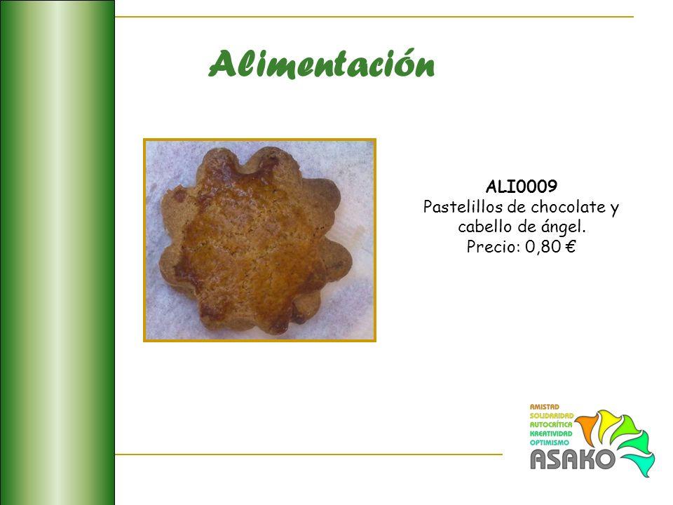 Alimentación ALI0009 Pastelillos de chocolate y cabello de ángel. Precio: 0,80