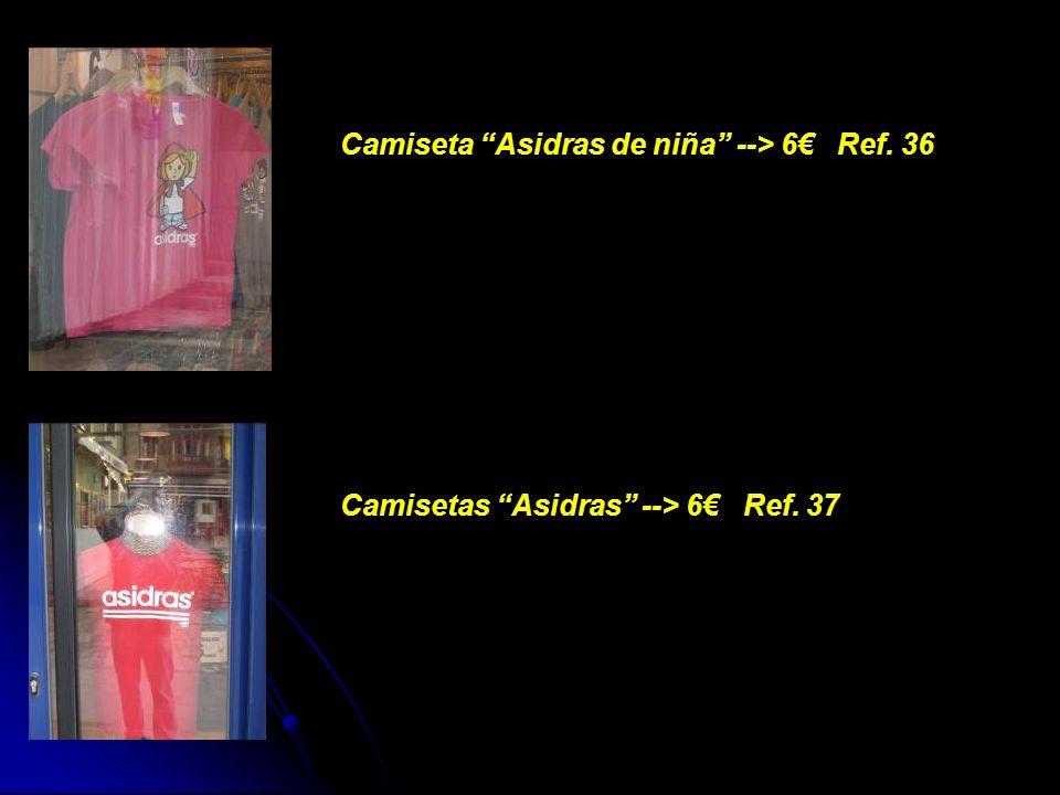 Camiseta Asidras de niña --> 6 Ref. 36 Camisetas Asidras --> 6 Ref. 37