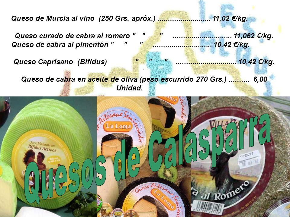 Queso de Murcia al vino (250 Grs. apróx.)..........................