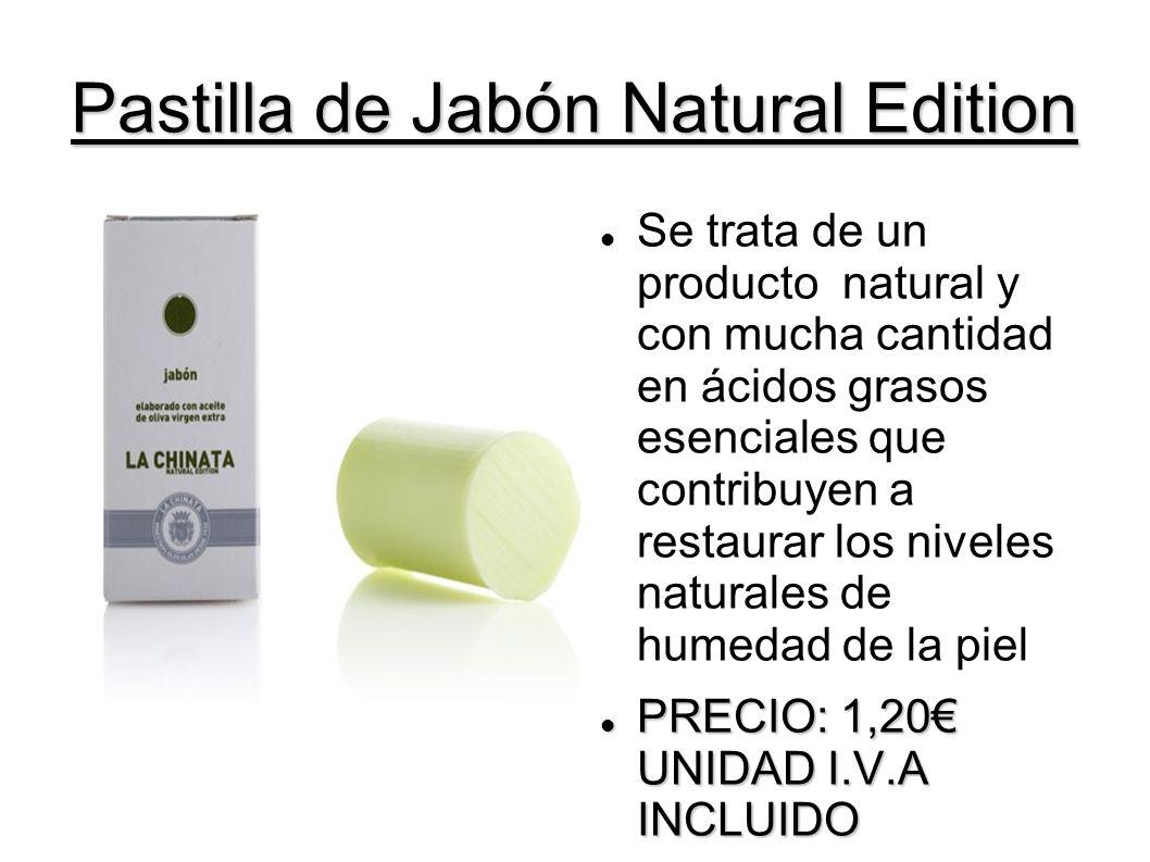 Pastilla de Jabón Natural Edition Se trata de un producto natural y con mucha cantidad en ácidos grasos esenciales que contribuyen a restaurar los niv