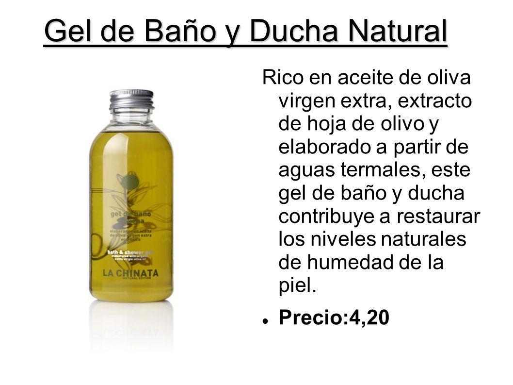 Gel de Baño y Ducha Natural Rico en aceite de oliva virgen extra, extracto de hoja de olivo y elaborado a partir de aguas termales, este gel de baño y