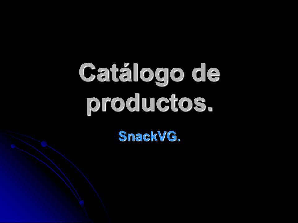 Catálogo de productos. SnackVG.