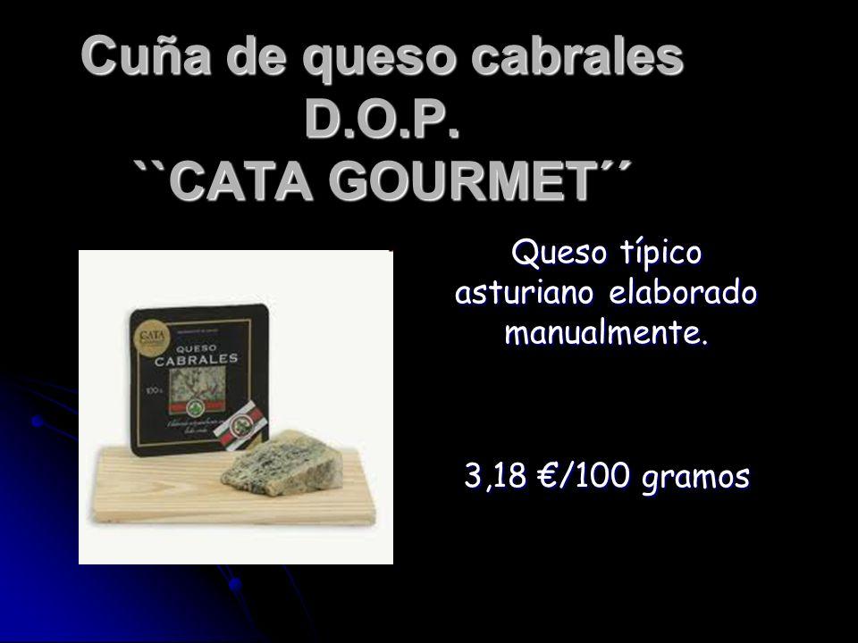Cuña de queso cabrales D.O.P. ``CATA GOURMET´´ Queso típico asturiano elaborado manualmente. 3,18 /100 gramos