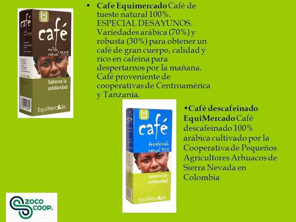 Cafe Equimercado Café de tueste natural 100%. ESPECIAL DESAYUNOS.