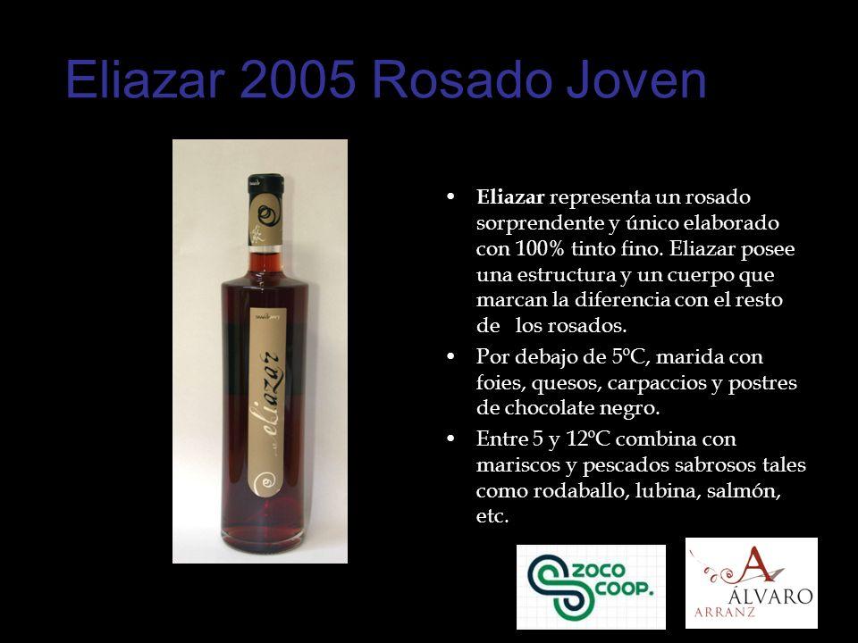 Eliazar 2005 Rosado Joven Eliazar representa un rosado sorprendente y único elaborado con 100% tinto fino.