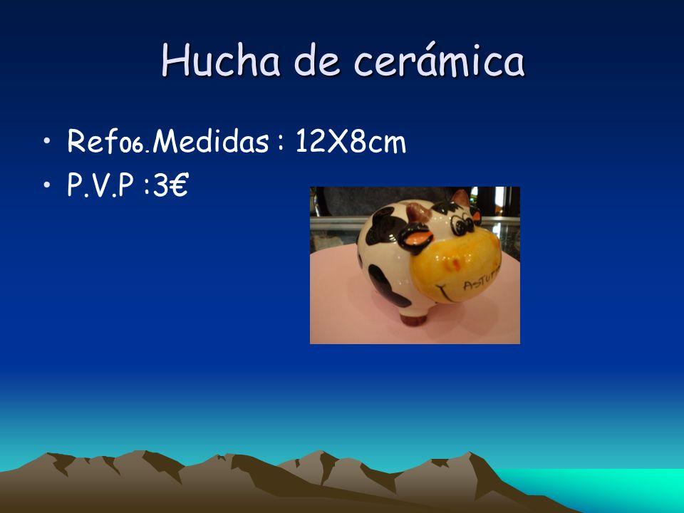Hucha de cerámica Ref 06. Medidas : 12X8cm P.V.P :3
