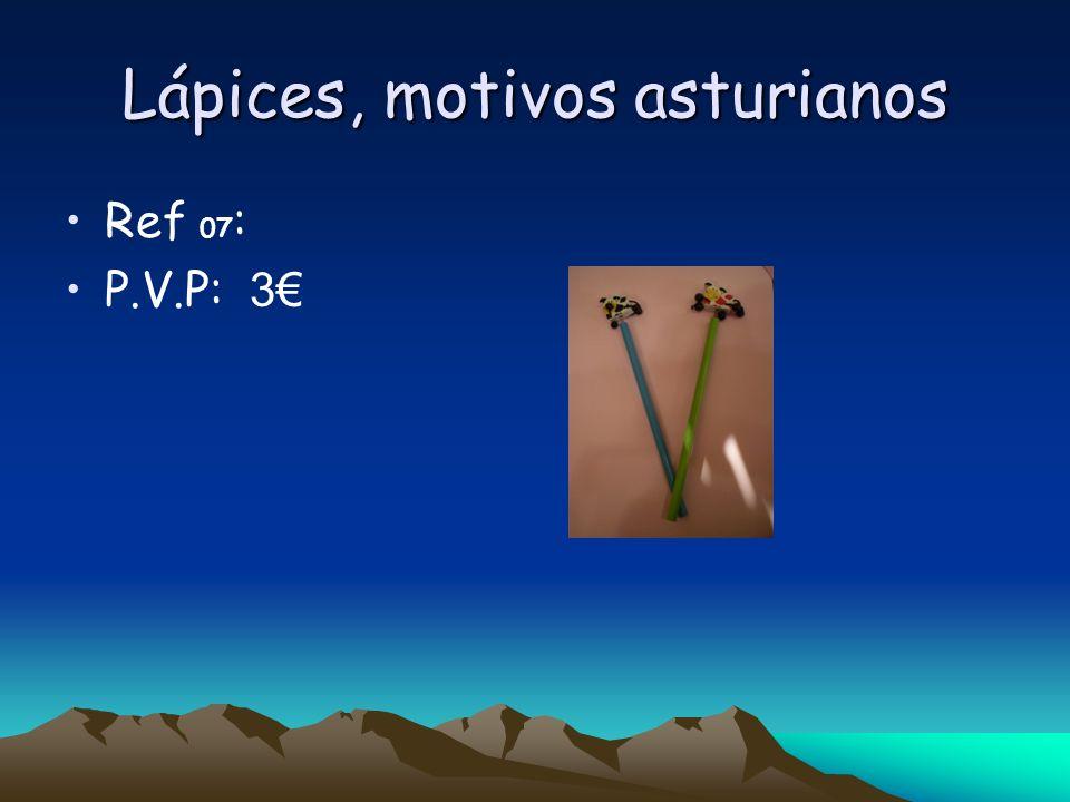 Lápices, motivos asturianos Ref 07 : P.V.P: 3