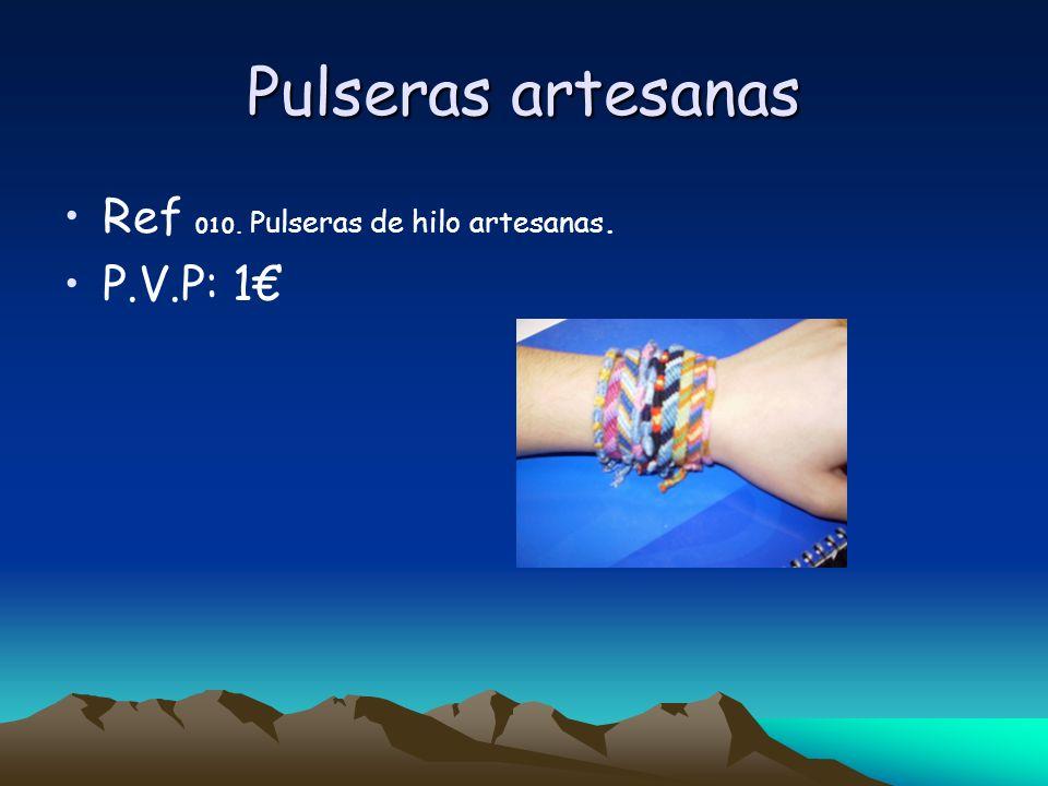 Pulseras artesanas Ref 010. Pulseras de hilo artesanas. P.V.P: 1
