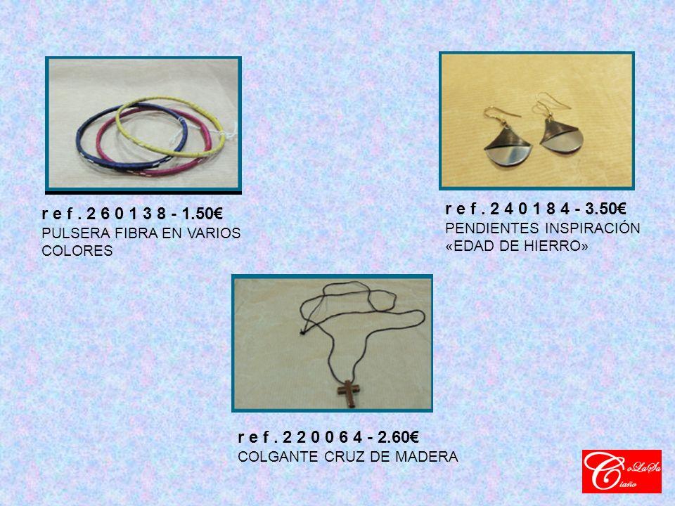 r e f. 2 6 0 1 3 8 - 1.50 PULSERA FIBRA EN VARIOS COLORES r e f.