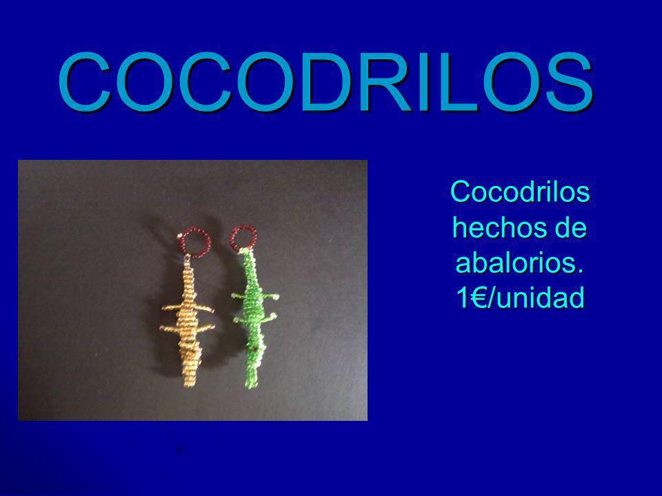 COCODRILOS Cocodrilos hechos de abalorios. 1/unidad