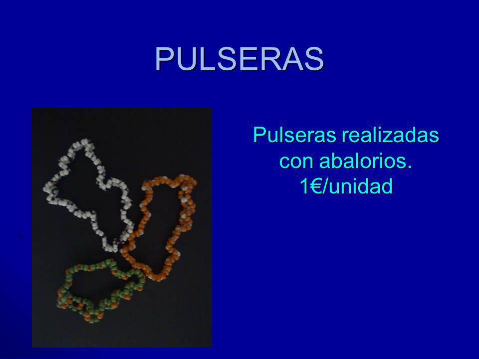 PULSERAS Pulseras realizadas con abalorios. 1/unidad