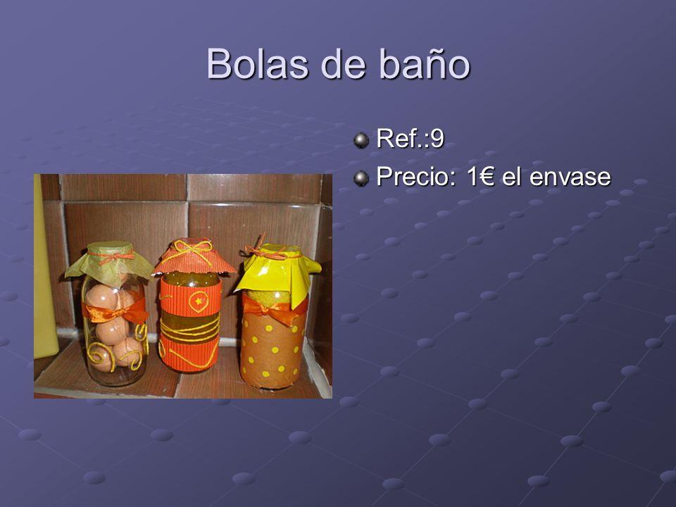 Bolas de baño Ref.:9 Precio: 1 el envase