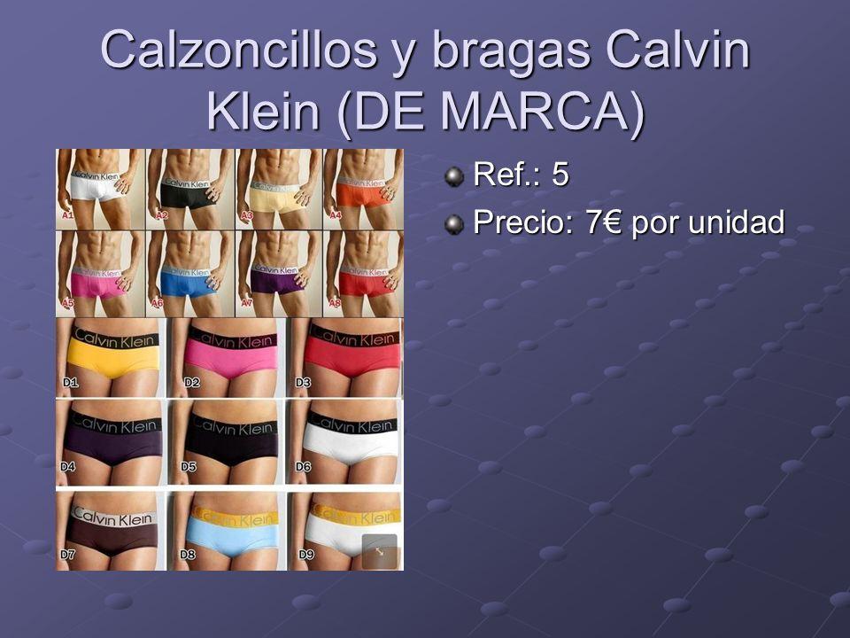 Calzoncillos y bragas Calvin Klein (DE MARCA) Ref.: 5 Precio: 7 por unidad