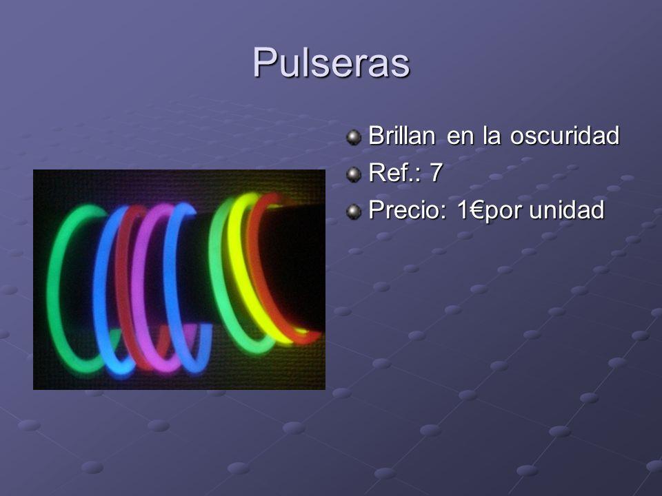 Pulseras Brillan en la oscuridad Ref.: 7 Precio: 1por unidad