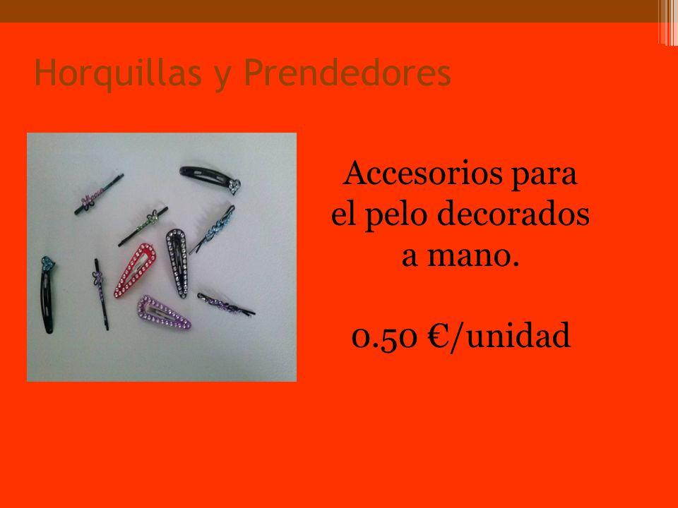 Horquillas y Prendedores Accesorios para el pelo decorados a mano. 0.50 /unidad