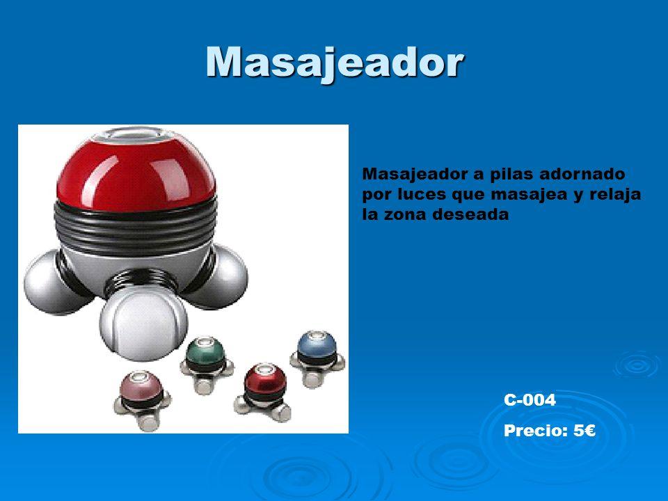 Masajeador Masajeador a pilas adornado por luces que masajea y relaja la zona deseada C-004 Precio: 5