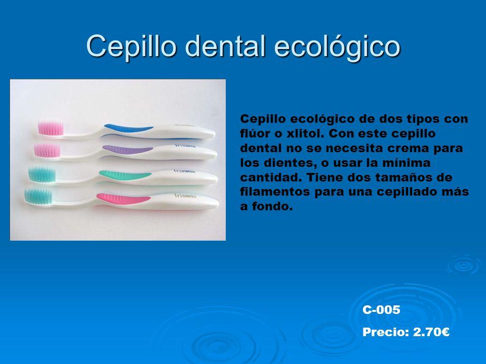 Cepillo dental ecológico Cepillo ecológico de dos tipos con flúor o xlitol.
