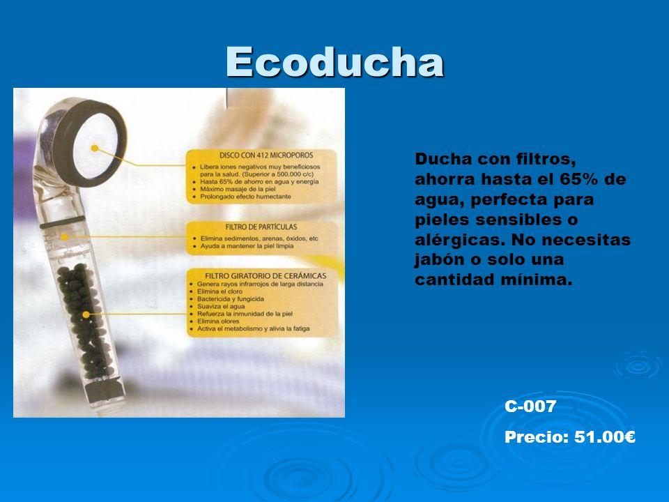 Ecoducha Ducha con filtros, ahorra hasta el 65% de agua, perfecta para pieles sensibles o alérgicas.