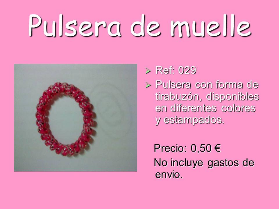 Pulsera de muelle Ref: 029 Ref: 029 Pulsera con forma de tirabuzón, disponibles en diferentes colores y estampados. Pulsera con forma de tirabuzón, di