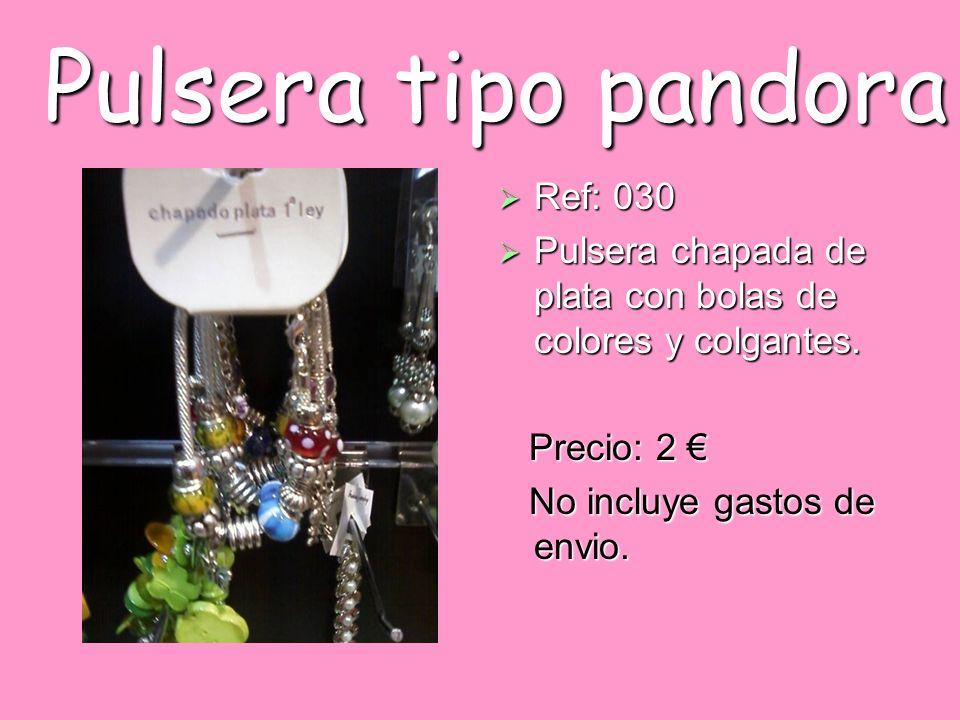 Pulsera tipo pandora Ref: 030 Ref: 030 Pulsera chapada de plata con bolas de colores y colgantes. Pulsera chapada de plata con bolas de colores y colg