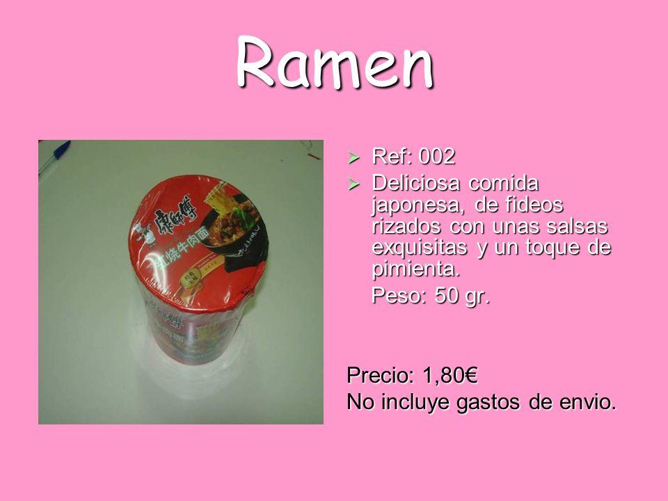 Ramen Ref: 002 Ref: 002 Deliciosa comida japonesa, de fideos rizados con unas salsas exquisitas y un toque de pimienta. Deliciosa comida japonesa, de