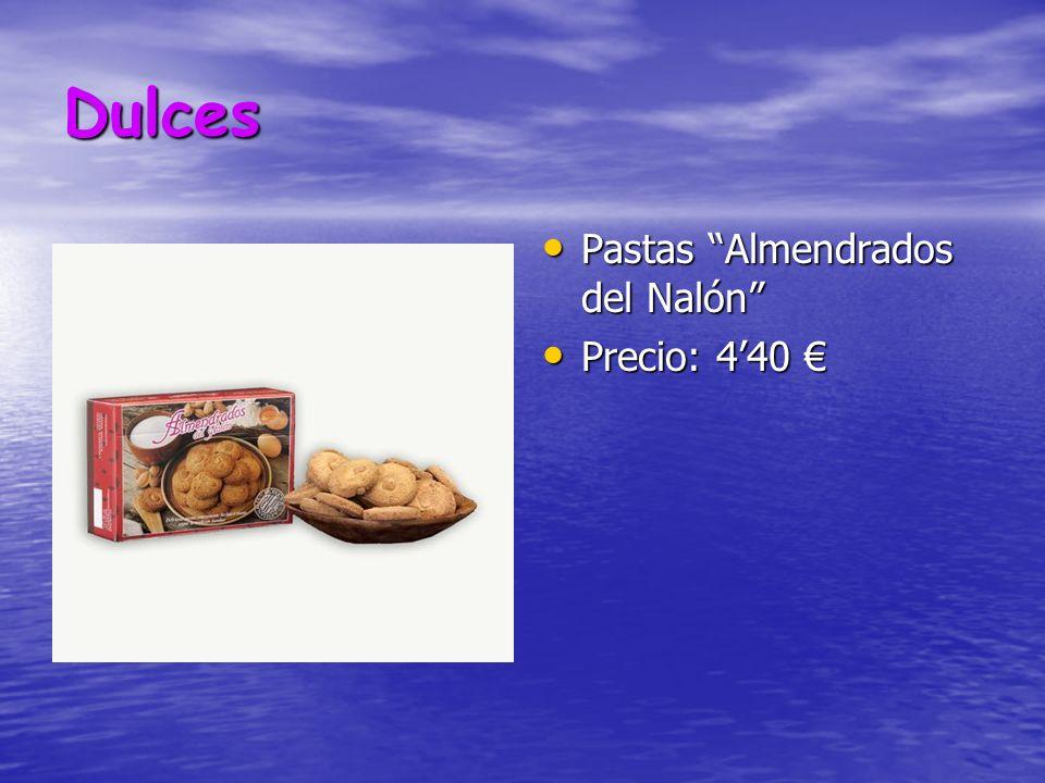 Dulces Pastas Almendrados del Nalón Pastas Almendrados del Nalón Precio: 440 Precio: 440