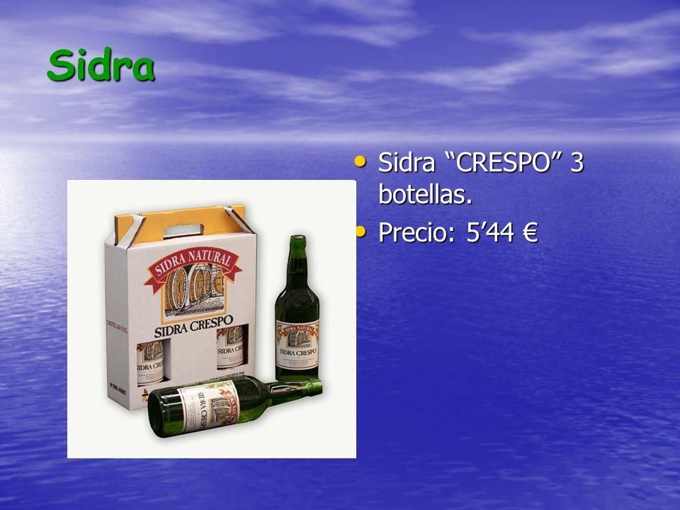 Sidra Sidra CRESPO 3 botellas. Sidra CRESPO 3 botellas. Precio: 544 Precio: 544