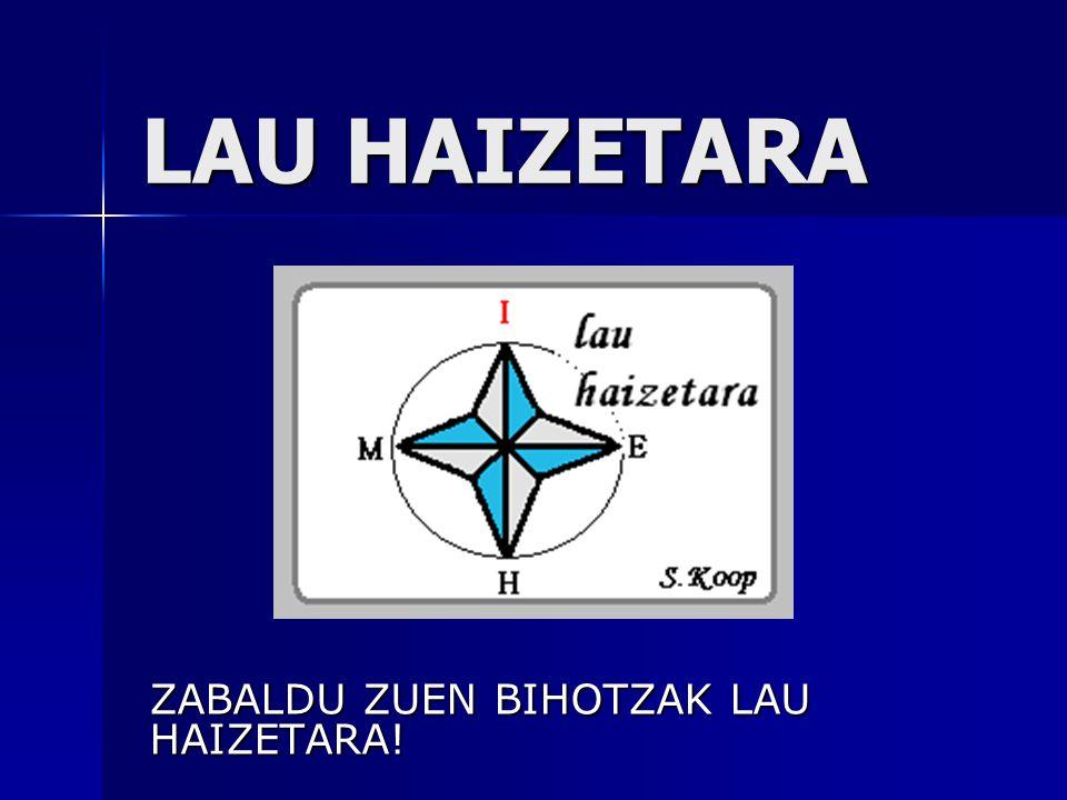 LAU HAIZETARA ZABALDU ZUEN BIHOTZAK LAU HAIZETARA!