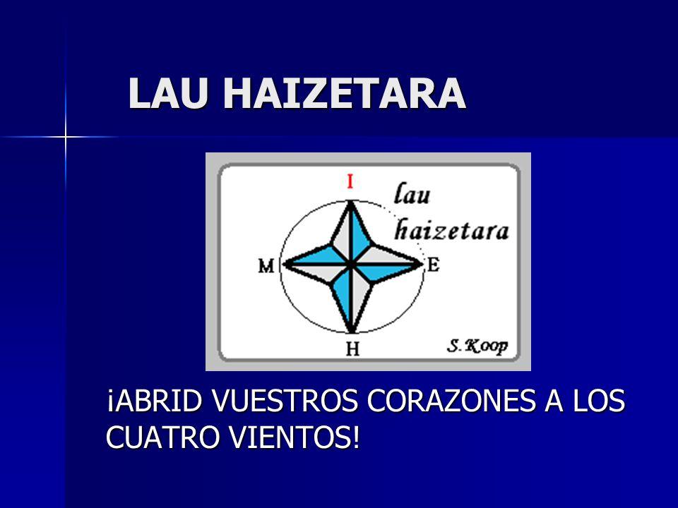 LAU HAIZETARA ¡ABRID VUESTROS CORAZONES A LOS CUATRO VIENTOS!