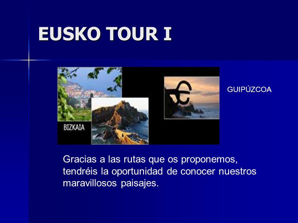 EUSKO TOUR I Gracias a las rutas que os proponemos, tendréis la oportunidad de conocer nuestros maravillosos paisajes. GUIPÚZCOA