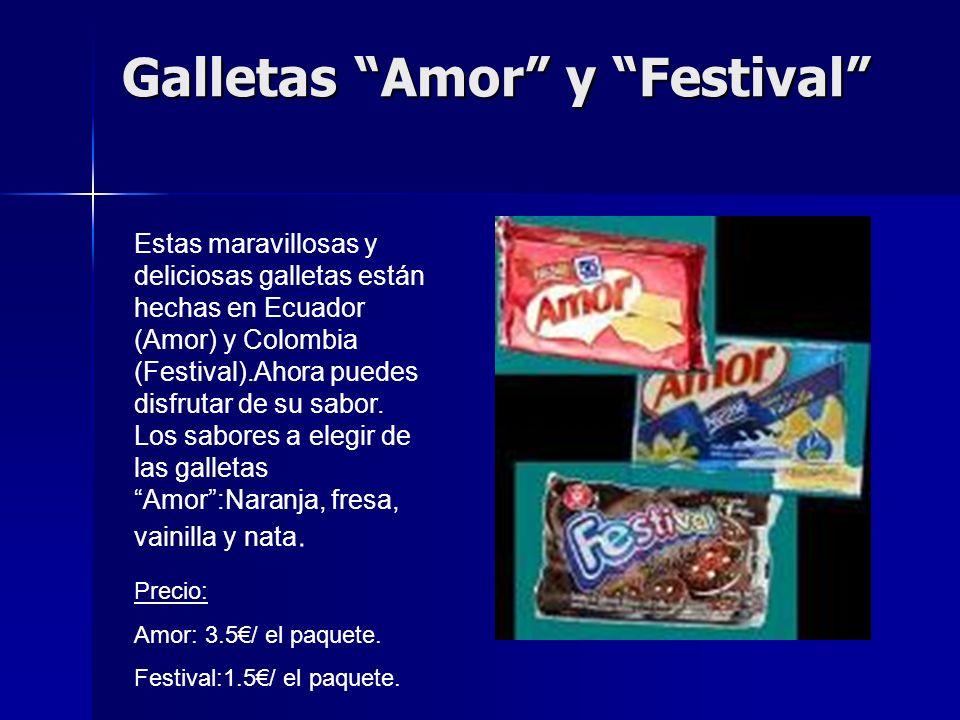 Galletas Amor y Festival Estas maravillosas y deliciosas galletas están hechas en Ecuador (Amor) y Colombia (Festival).Ahora puedes disfrutar de su sabor.