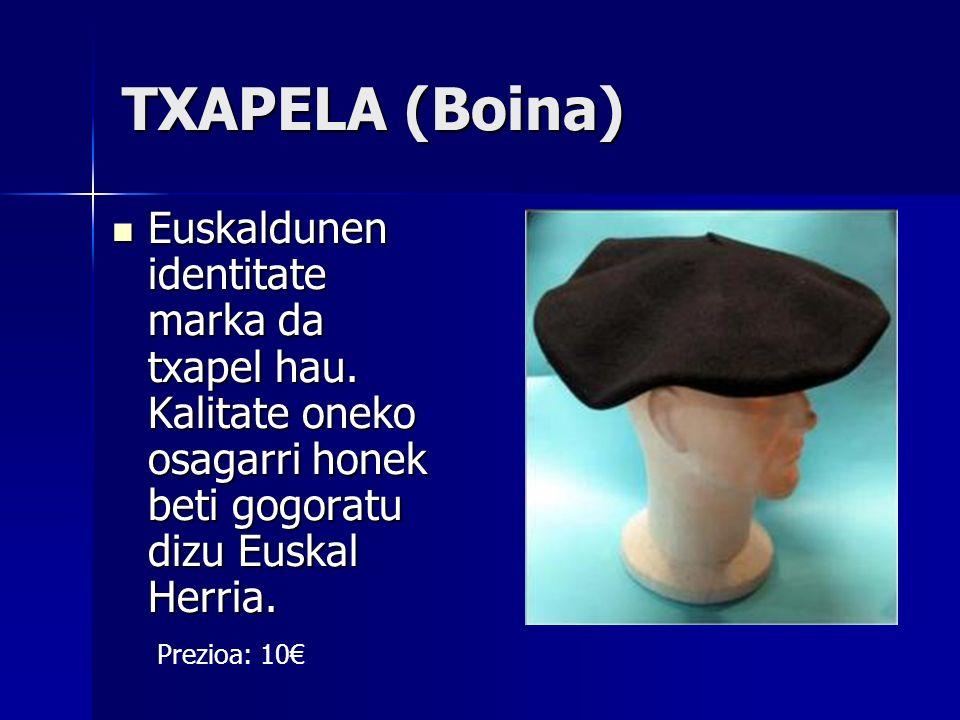 TXAPELA (Boina) Euskaldunen identitate marka da txapel hau. Kalitate oneko osagarri honek beti gogoratu dizu Euskal Herria. Euskaldunen identitate mar