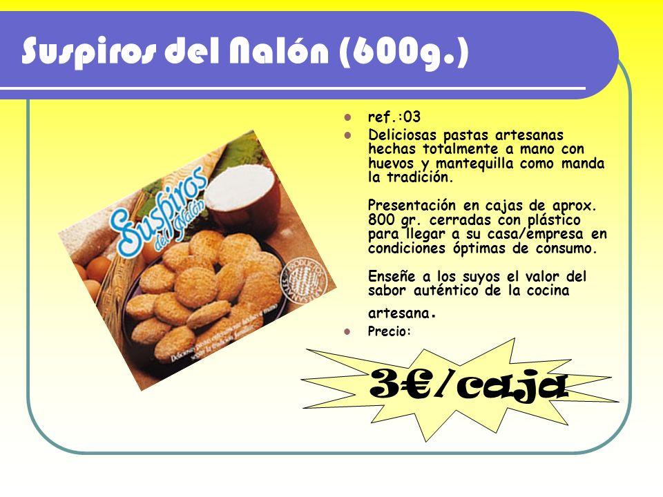 Suspiros del Nalón (600g.) ref.:03 Deliciosas pastas artesanas hechas totalmente a mano con huevos y mantequilla como manda la tradición. Presentación