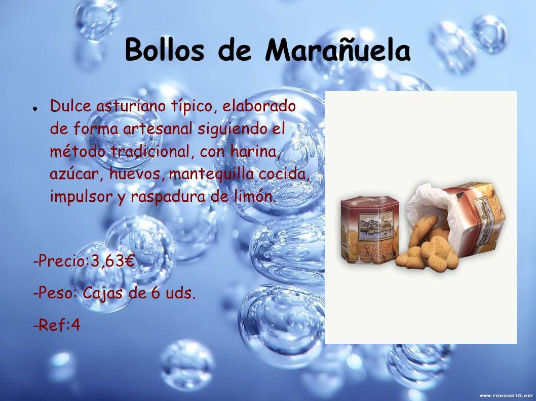 Bollos de Marañuela Dulce asturiano típico, elaborado de forma artesanal siguiendo el método tradicional, con harina, azúcar, huevos, mantequilla coci