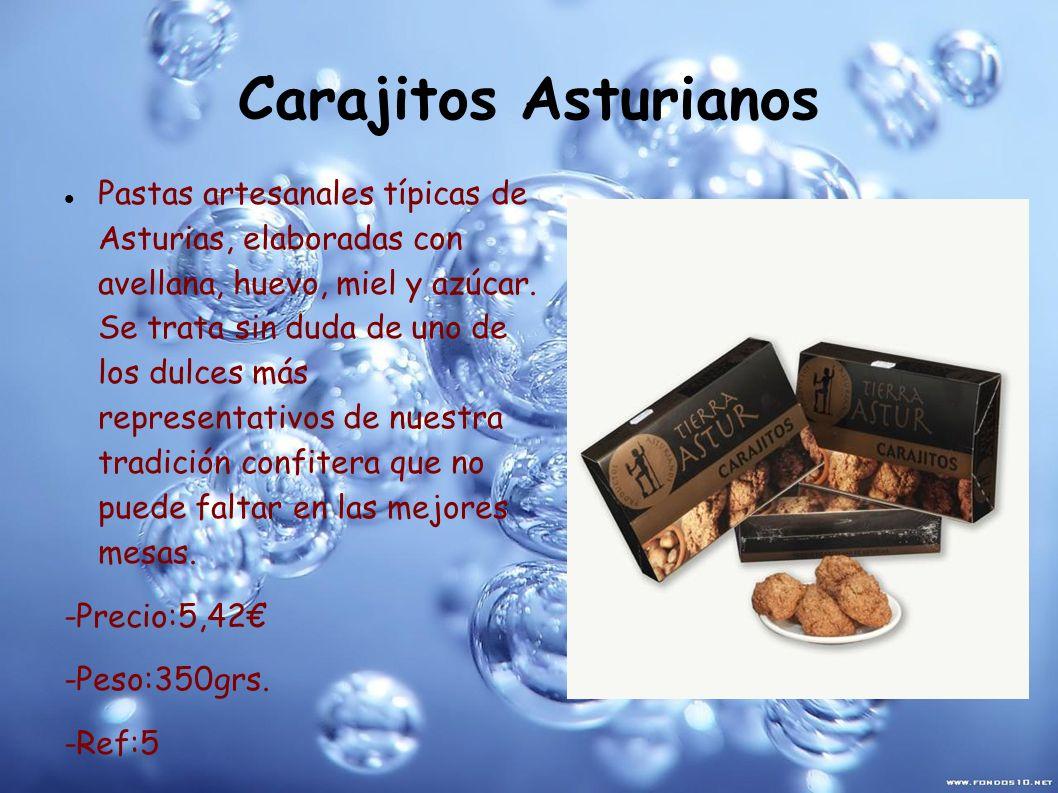 Carajitos Asturianos Pastas artesanales típicas de Asturias, elaboradas con avellana, huevo, miel y azúcar. Se trata sin duda de uno de los dulces más