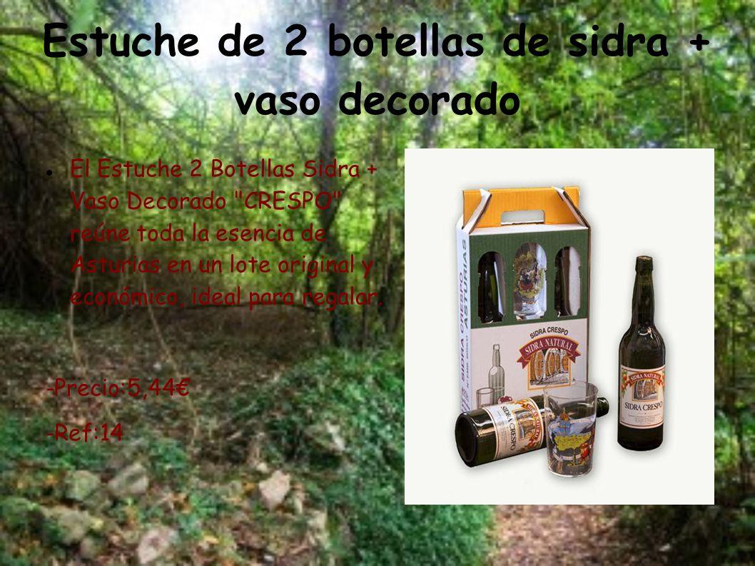 Estuche de 2 botellas de sidra + vaso decorado El Estuche 2 Botellas Sidra + Vaso Decorado
