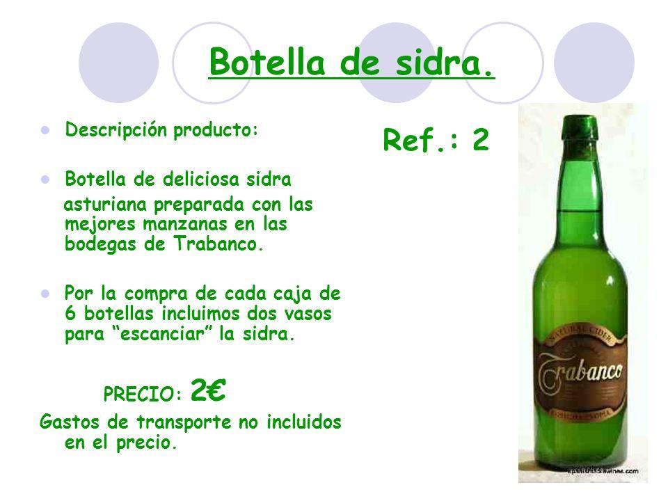 Botella de sidra. Descripción producto: Botella de deliciosa sidra asturiana preparada con las mejores manzanas en las bodegas de Trabanco. Por la com