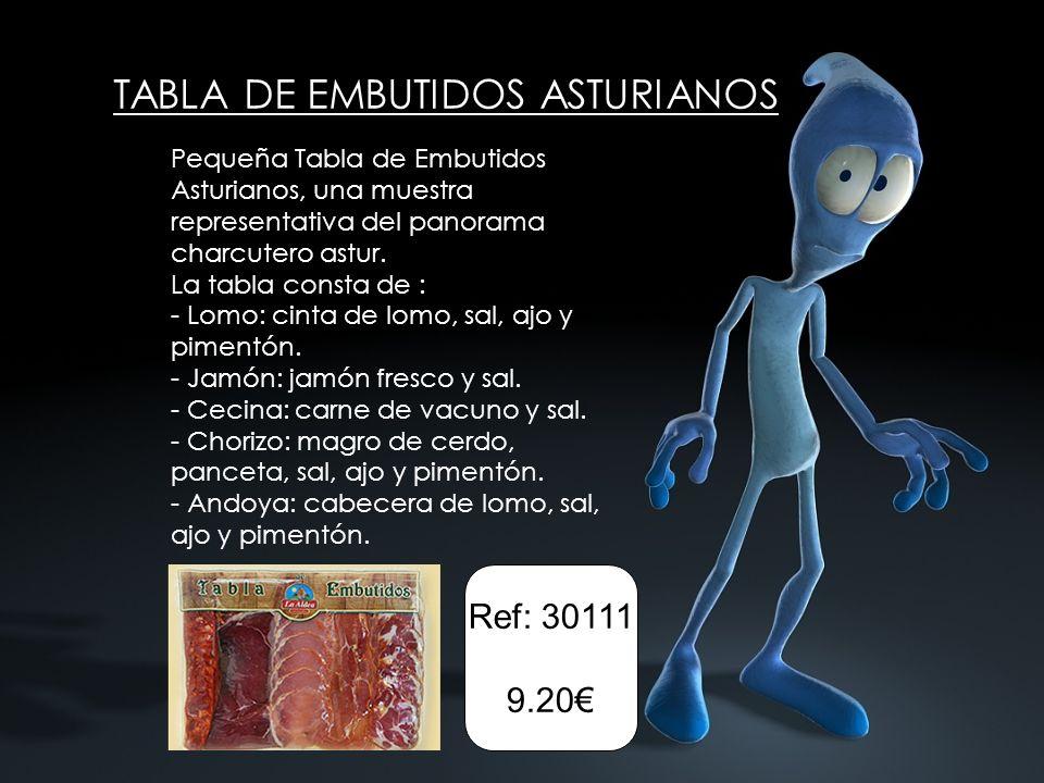 TABLA DE EMBUTIDOS ASTURIANOS Pequeña Tabla de Embutidos Asturianos, una muestra representativa del panorama charcutero astur. La tabla consta de : -
