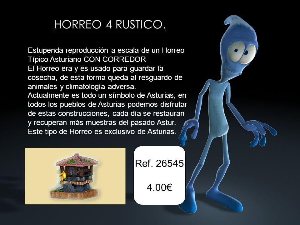 Ref. 26545 4.00 HORREO 4 RUSTICO. Estupenda reproducción a escala de un Horreo Típico Asturiano CON CORREDOR El Horreo era y es usado para guardar la