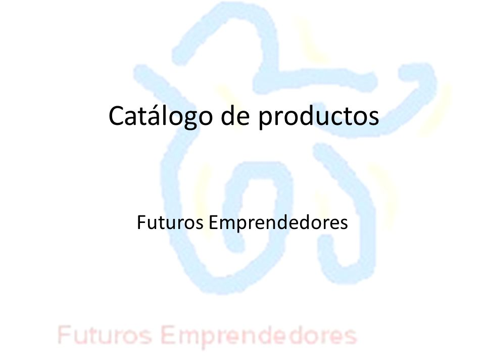 Catálogo de productos Futuros Emprendedores