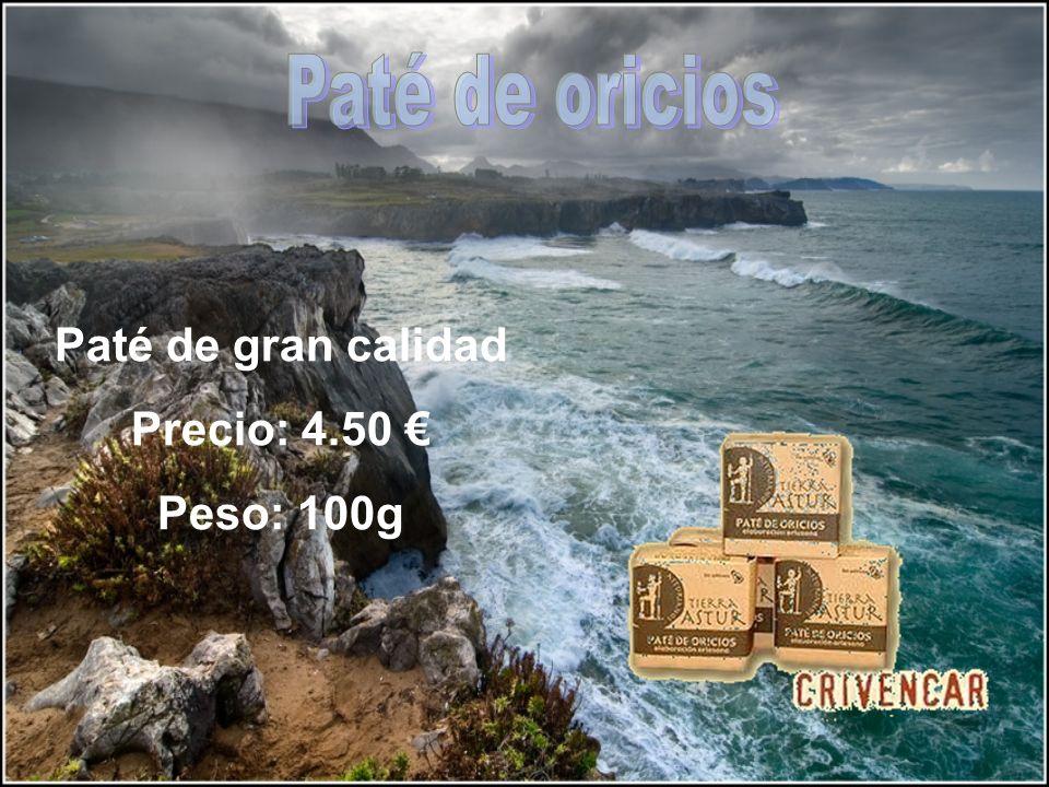 Paté de gran calidad Precio: 4.50 Peso: 100g
