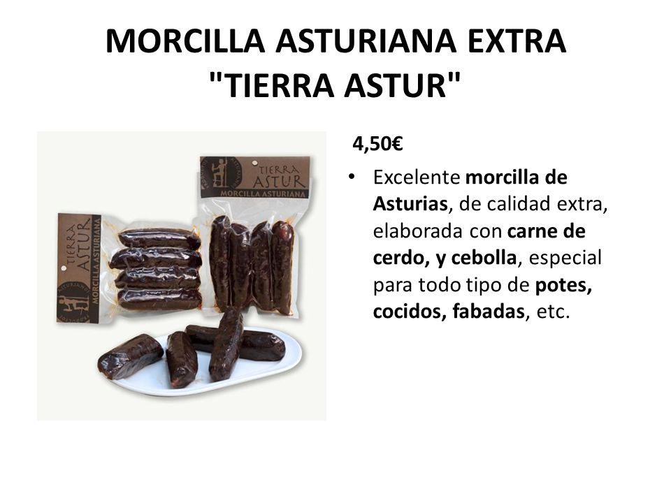 CHORIZO Y MORCILLA (Pack 2+2) 5 Exquisita combinación de dos chorizos caseros tradicionales, con dos morcillas de Asturias de calidad extra, especiales para todo tipo de potes, cocidos, fabadas, etc.