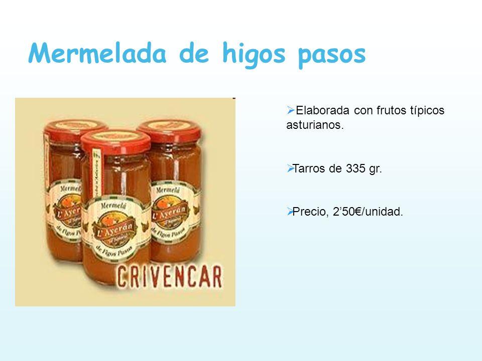 Mermelada de higos pasos Elaborada con frutos típicos asturianos. Tarros de 335 gr. Precio, 250/unidad.