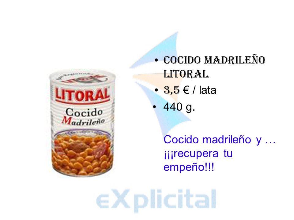 Callos a la madrileña Litoral 4 / lata 380 g. Los mejores callos para mayo.