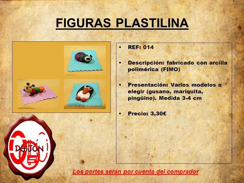 FIGURAS PLASTILINA REF: 014 Descripción: fabricado con arcilla polimérica (FIMO) Presentación: Varios modelos a elegir (gusano, mariquita, pingüino).