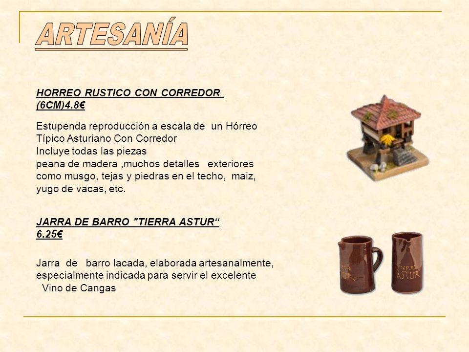Estupenda reproducción a escala de un Hórreo Típico Asturiano Con Corredor Incluye todas las piezas peana de madera,muchos detalles exteriores como musgo, tejas y piedras en el techo, maiz, yugo de vacas, etc.